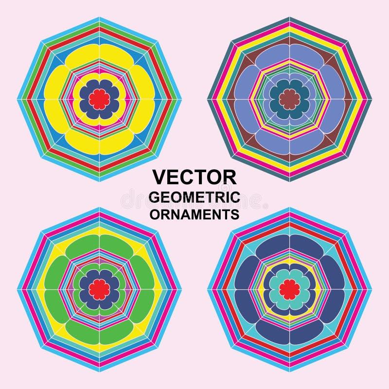 Símbolos del ornamental del vector ilustración del vector