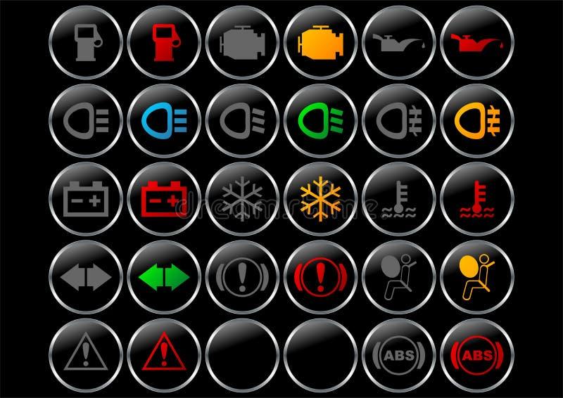 Símbolos del tablero de instrumentos libre illustration