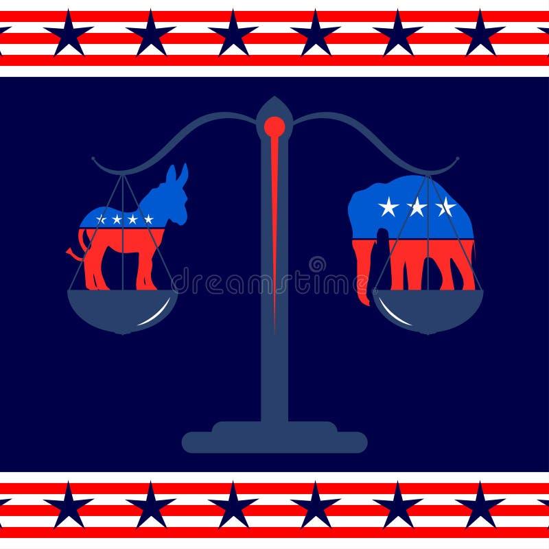 Símbolos Democratic y del Partido Republicano libre illustration