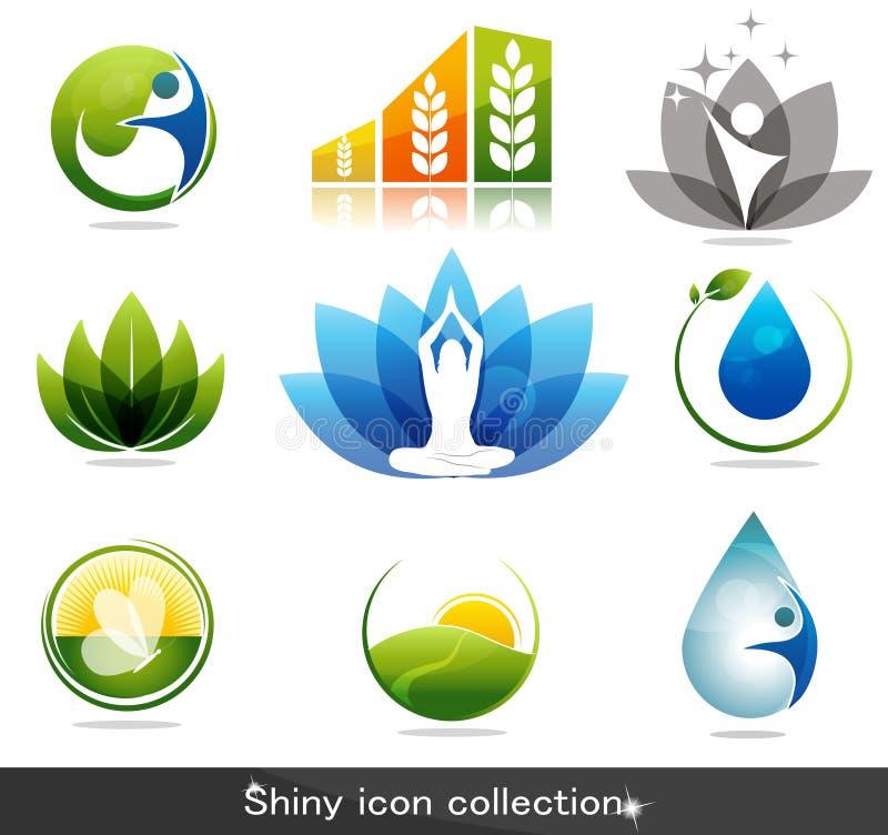 Símbolos do cuidado de Helath ilustração royalty free