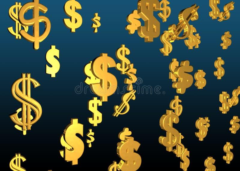 Símbolos do dólar ilustração royalty free