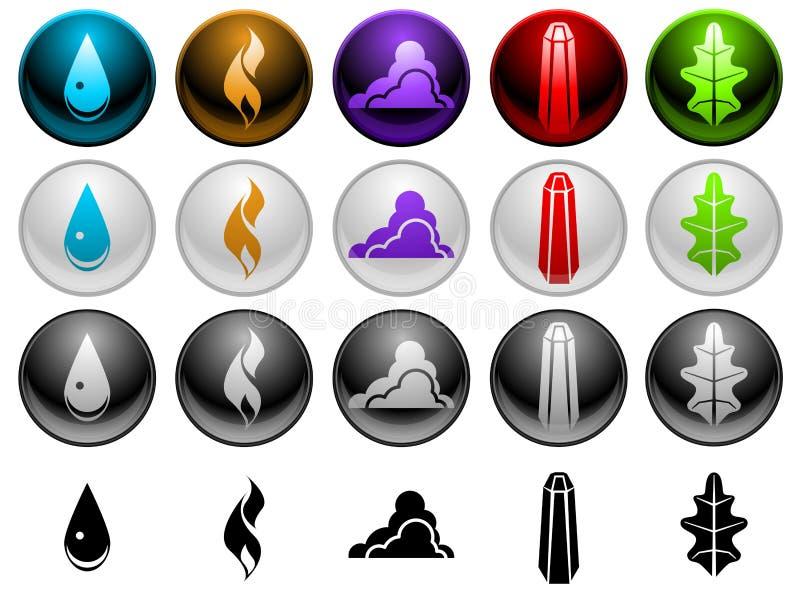 Símbolos do elemento ilustração royalty free