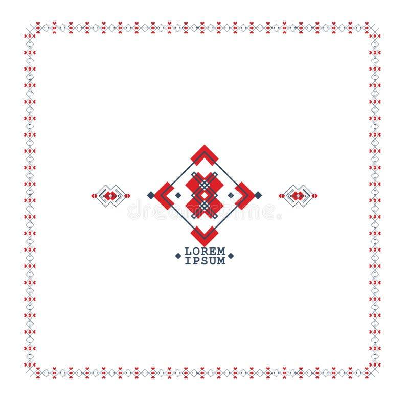 Símbolos do estilo de Boho em formas geométricas Fundo tribal étnico do vetor do teste padrão, projeto boêmio ilustração do vetor