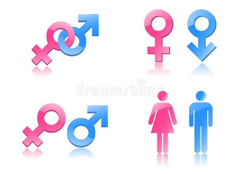 Símbolos do género ilustração royalty free