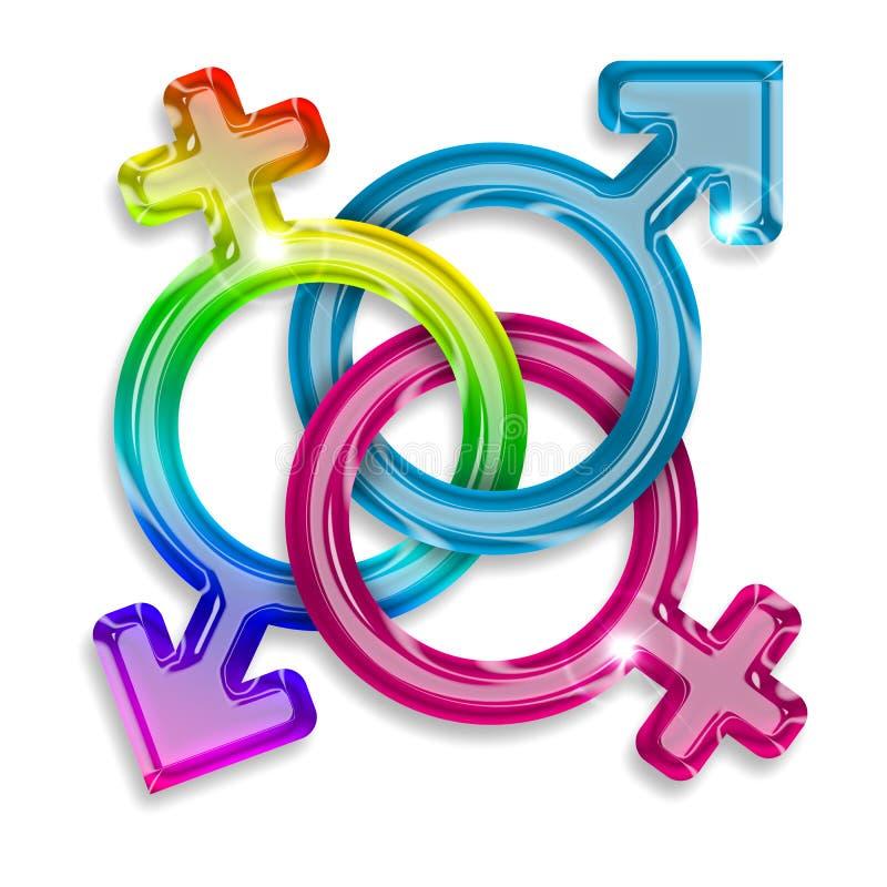 Símbolos do gênero ilustração do vetor