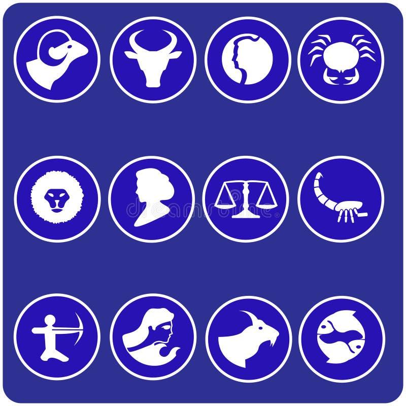 Símbolos do Horoscope ilustração royalty free