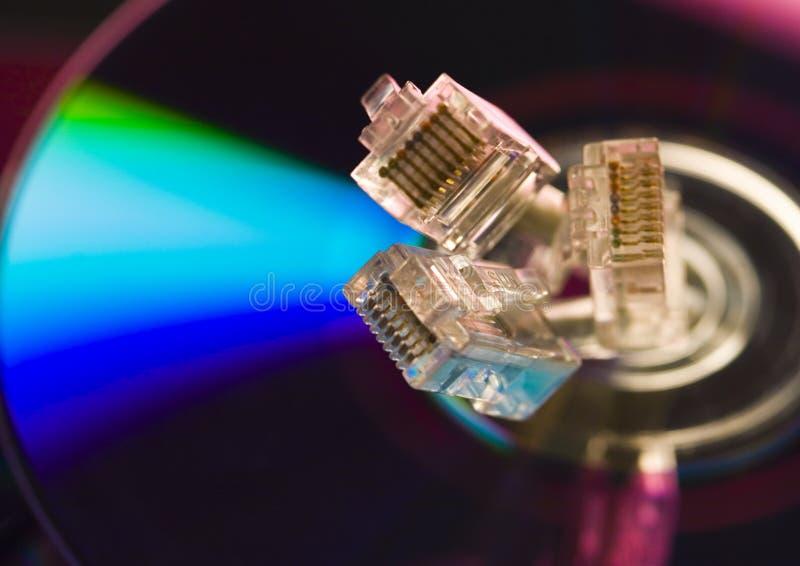 Símbolos do Internet (rj45) imagem de stock