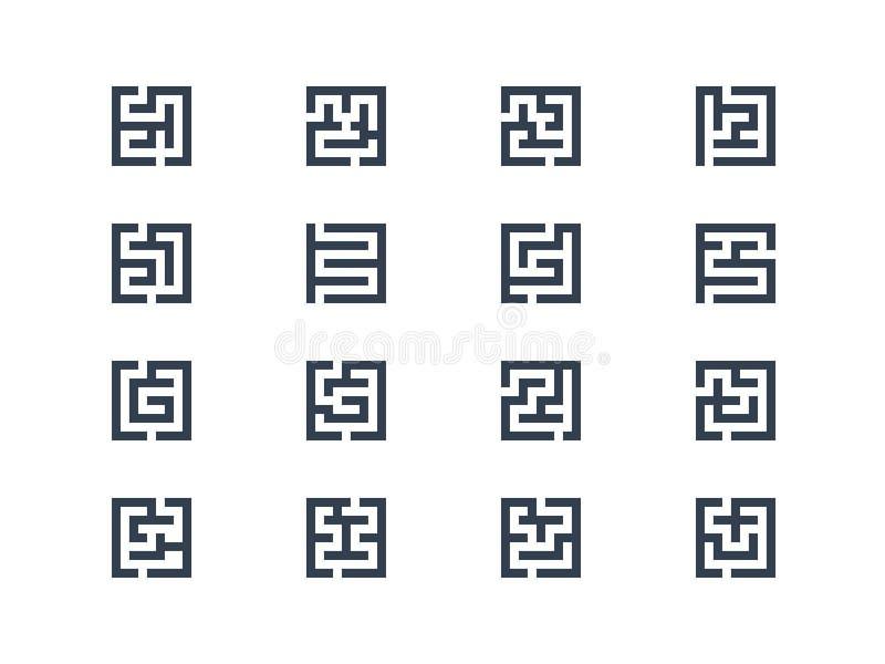 Símbolos do labirinto ilustração royalty free