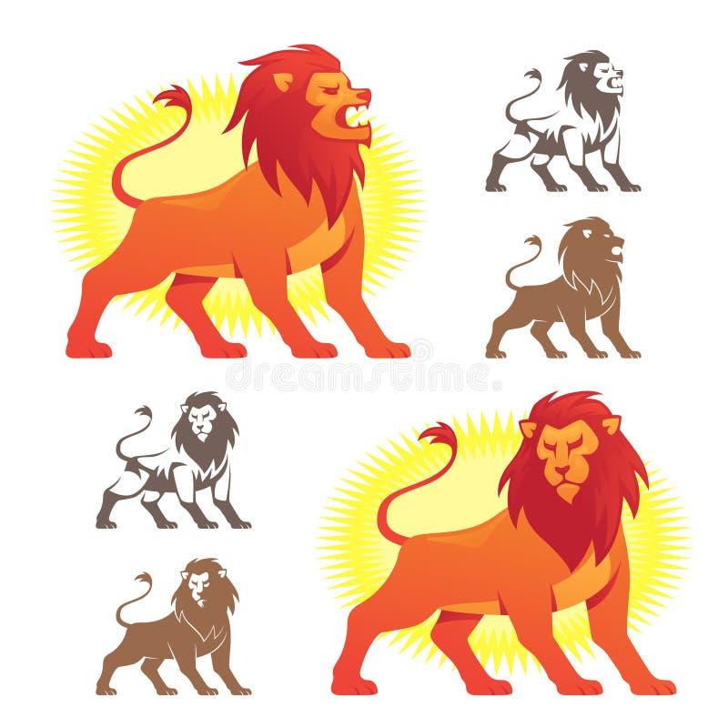 Símbolos do leão ilustração stock