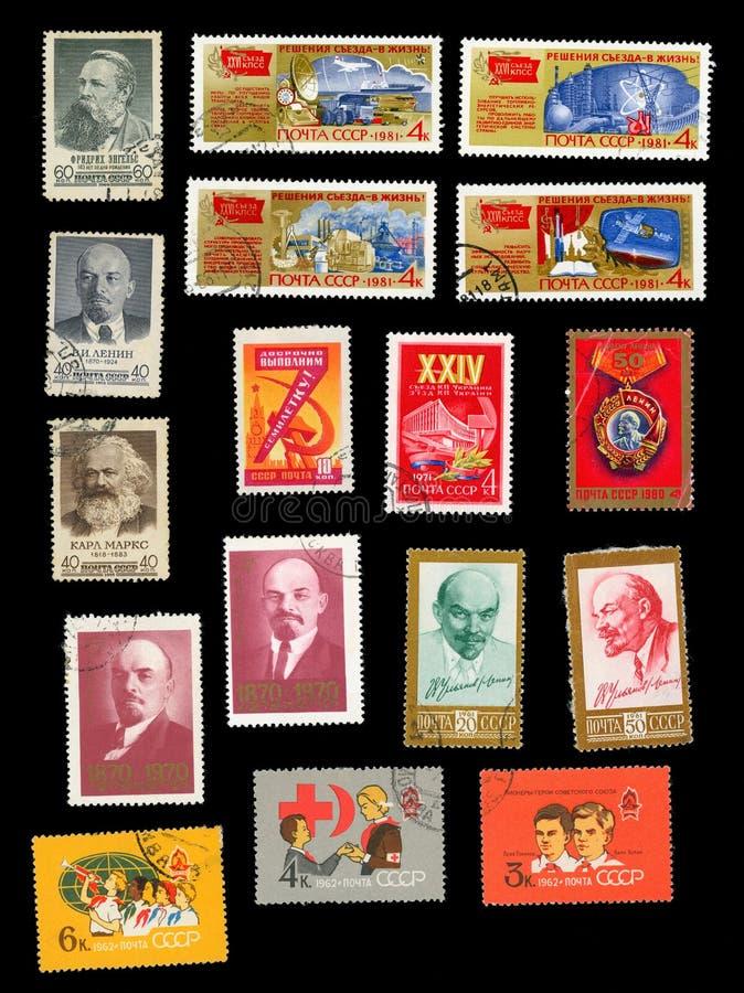 Símbolos do movimento, dos pioneiros e dos congressos de partido comunistas imagem de stock