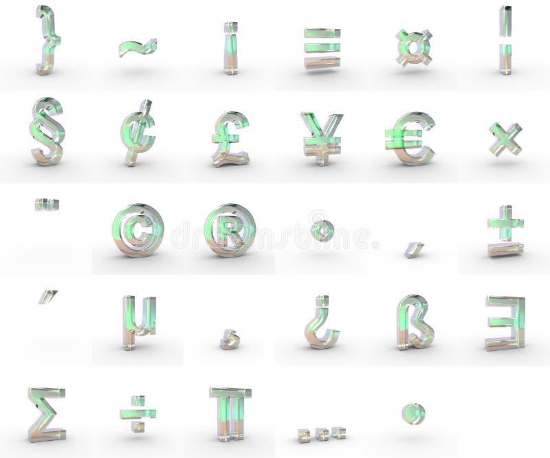 Símbolos do sabão ilustração do vetor
