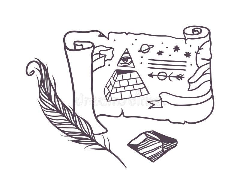 Símbolos do segredo do vetor ilustração do vetor