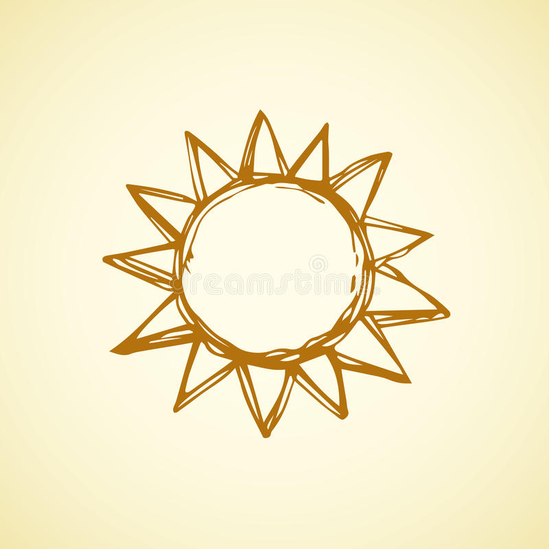 Símbolos do sol Ilustração do vetor ilustração do vetor