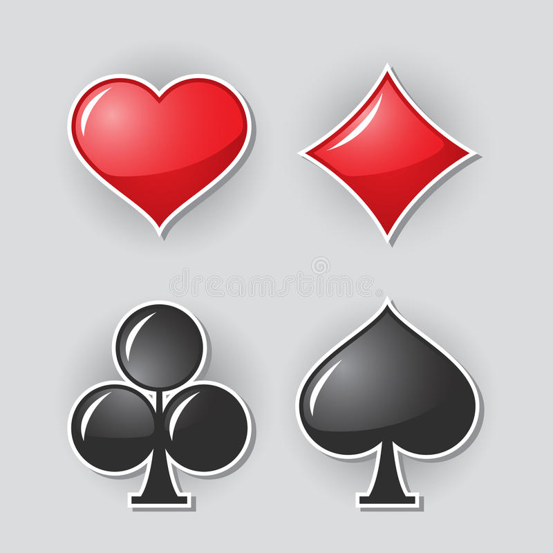 Símbolos Do Terno Do Cartão Imagem de Stock Royalty Free