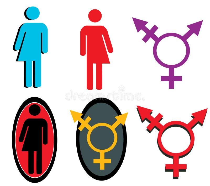 Símbolos do Transgender ilustração do vetor