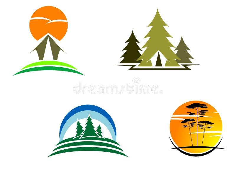 Símbolos do turismo ilustração royalty free