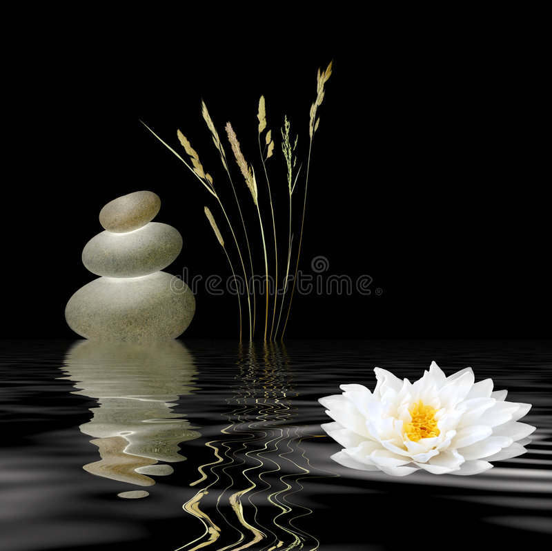 Símbolos do zen fotografia de stock royalty free