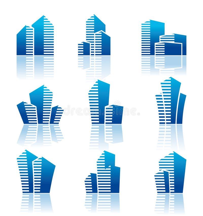 Símbolos dos bens imobiliários ilustração stock