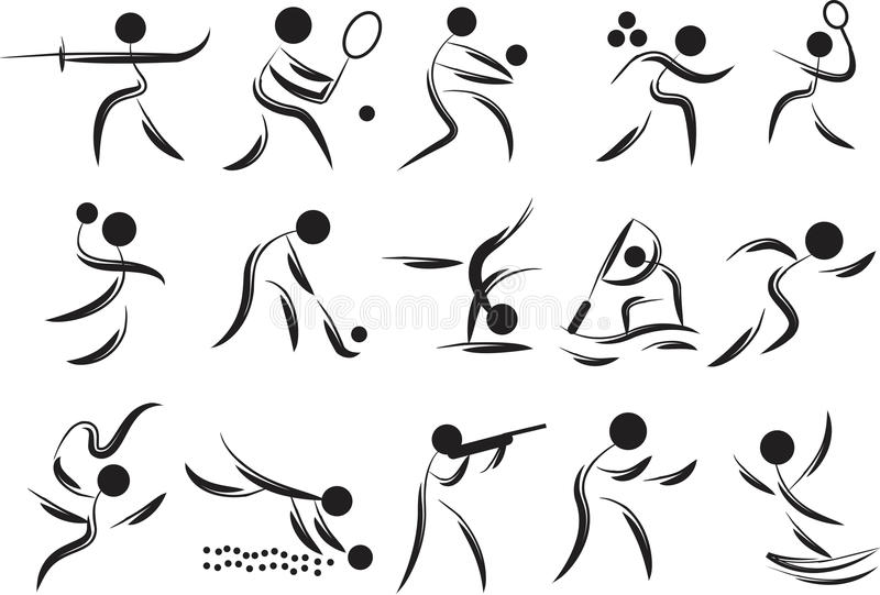 Símbolos dos jogos ilustração royalty free