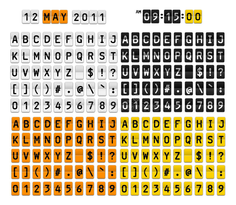 Símbolos dos números das letras