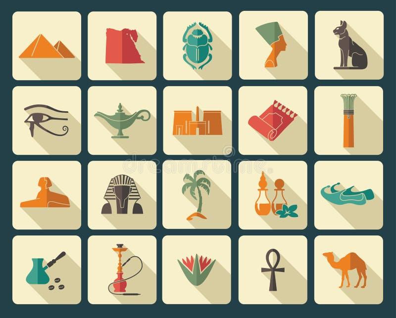 Símbolos egípcios ilustração do vetor