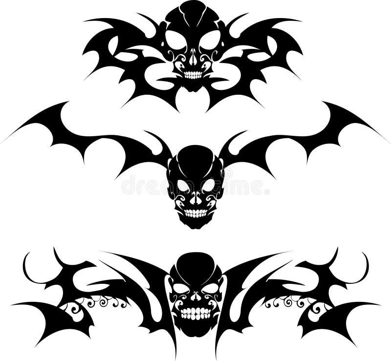Símbolos escuros ilustração royalty free