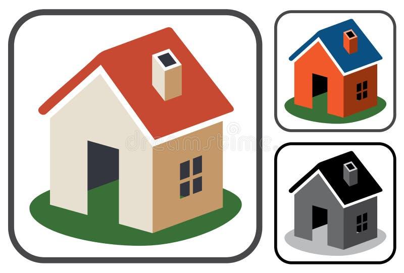 Símbolos Home ilustração stock
