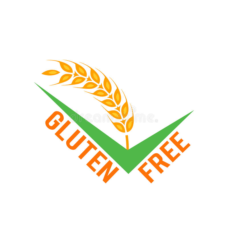 Símbolos libres del gluten del vector en el fondo blanco ilustración del vector