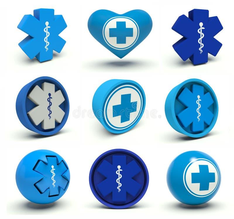 Símbolos médicos stock de ilustración
