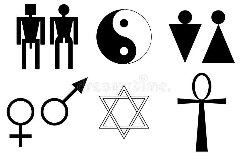 Símbolos masculinos e fêmeas ilustração do vetor