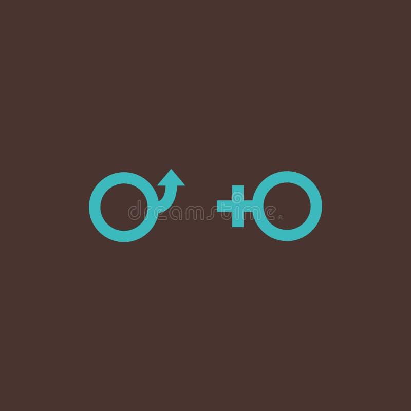 Símbolos masculinos y femeninos del género libre illustration