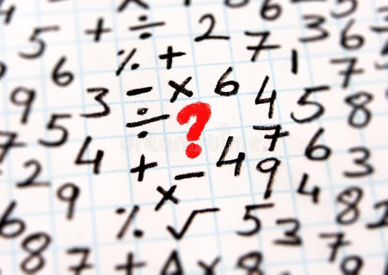 Simbolos Matematicos Y Solucion De Problemas Imagen De Archivo Imagen De Tarjeta Calcule 124056355