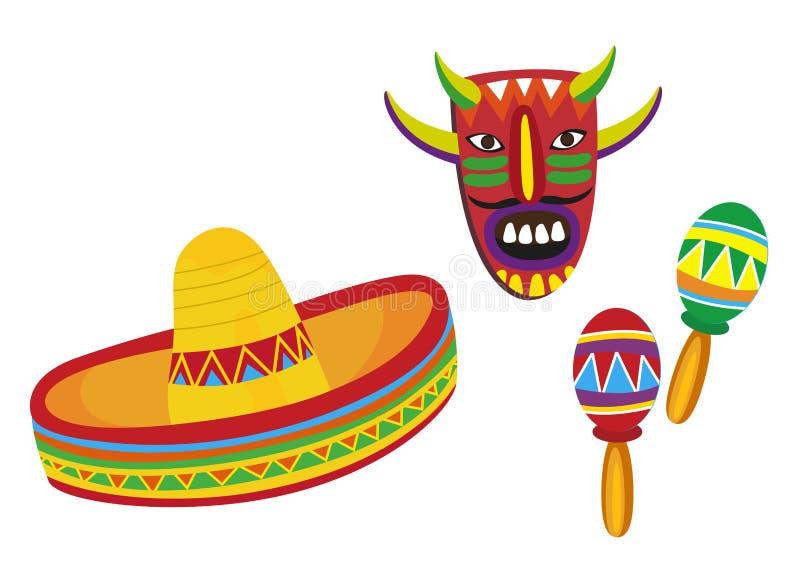 Símbolos mexicanos ilustración del vector