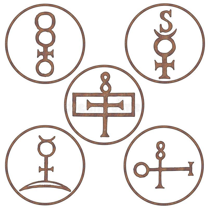 Símbolos minerales del alcohol libre illustration