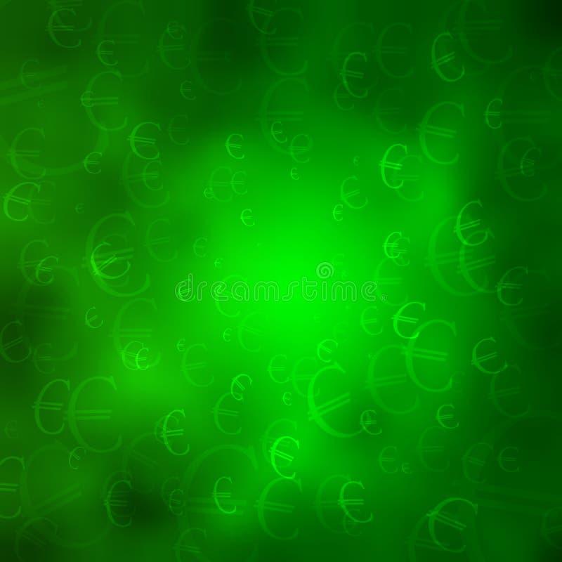Símbolos Monetarios En Un Fondo Verde De La Nube Fotos de archivo libres de regalías