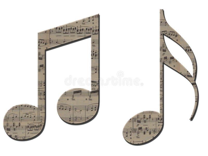 Símbolos musicais ilustração do vetor