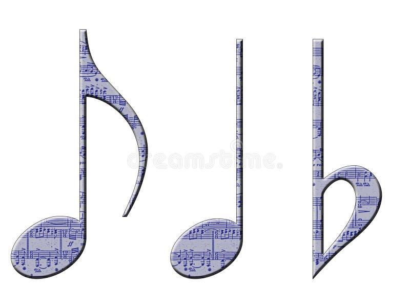 Símbolos musicais ilustração royalty free