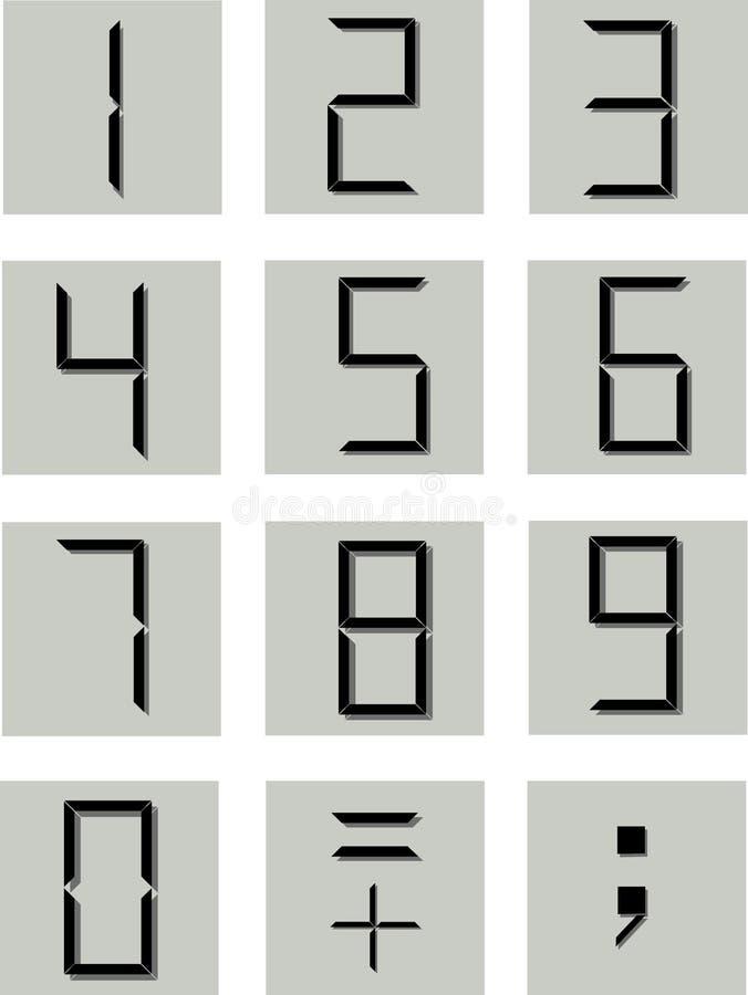 Símbolos numéricos ilustração do vetor