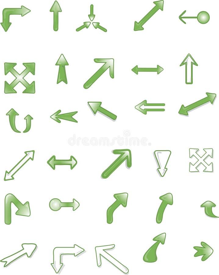 Símbolos O Iconos De La Flecha Imagenes de archivo