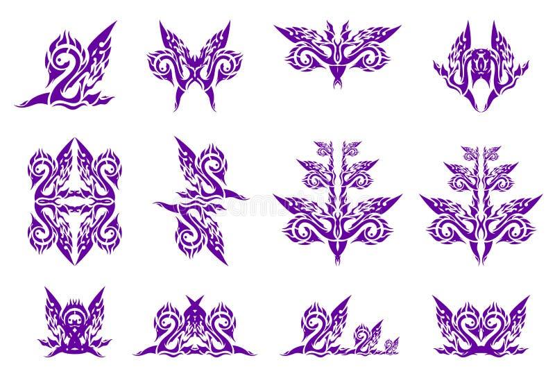 Símbolos ondulados da cisne ilustração do vetor
