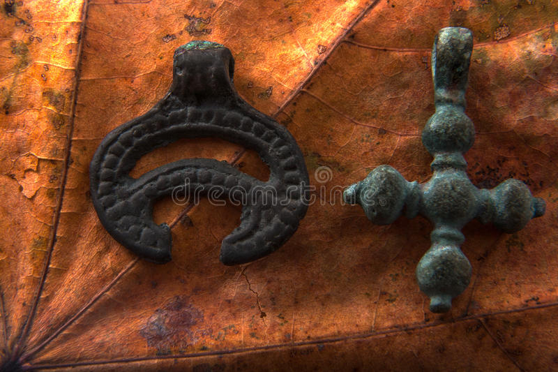 Símbolos paganos y cristianos fotos de archivo