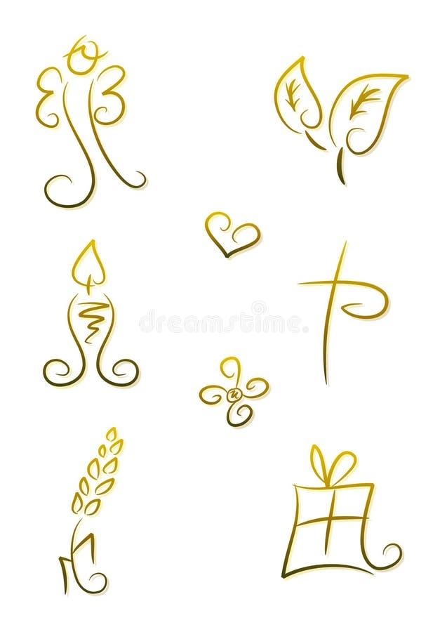 Símbolos para la religión/el cristianismo libre illustration