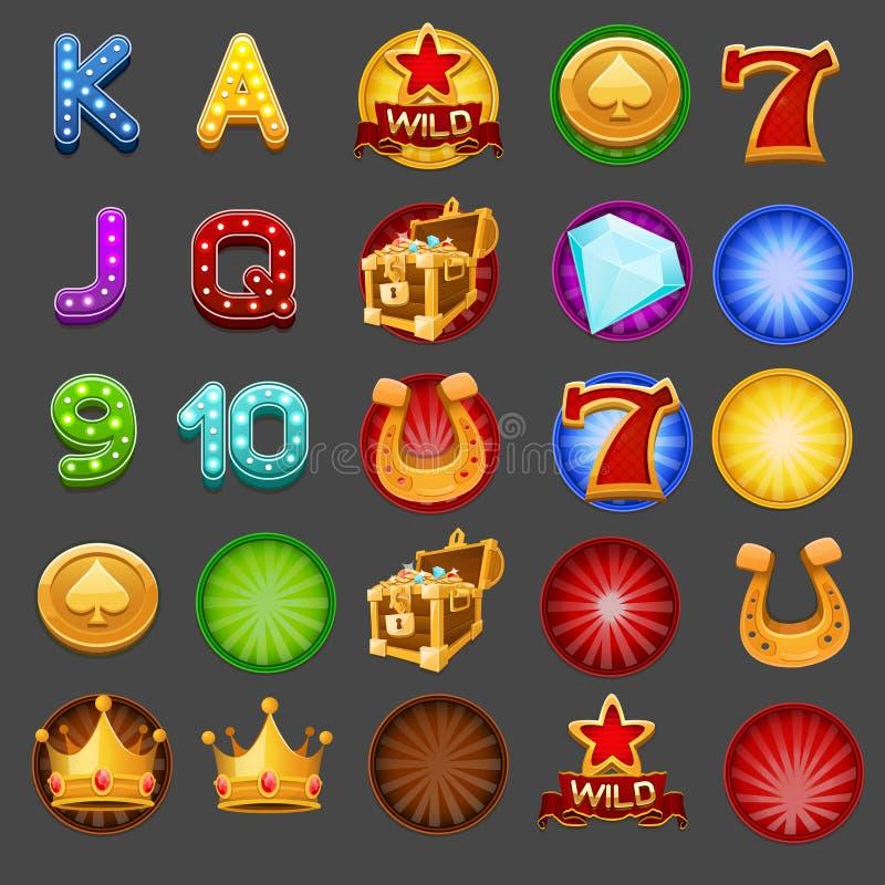 Símbolos para o jogo dos entalhes ilustração do vetor