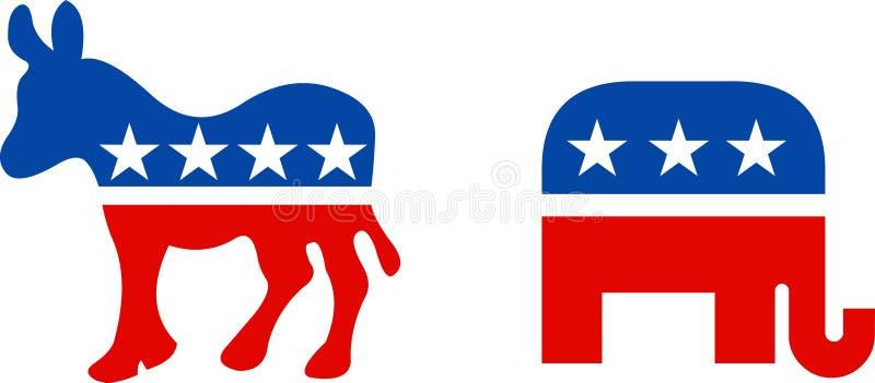 Símbolos políticos de los E.E.U.U. stock de ilustración