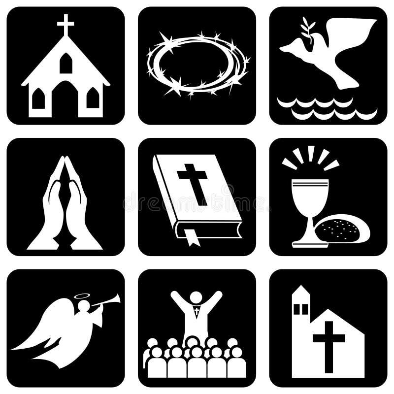 Símbolos religiosos ilustração do vetor
