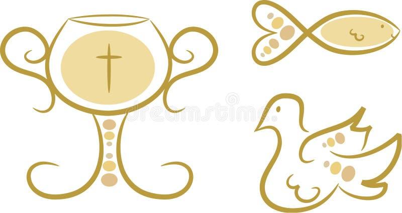 Símbolos religiosos, conjunto I stock de ilustración