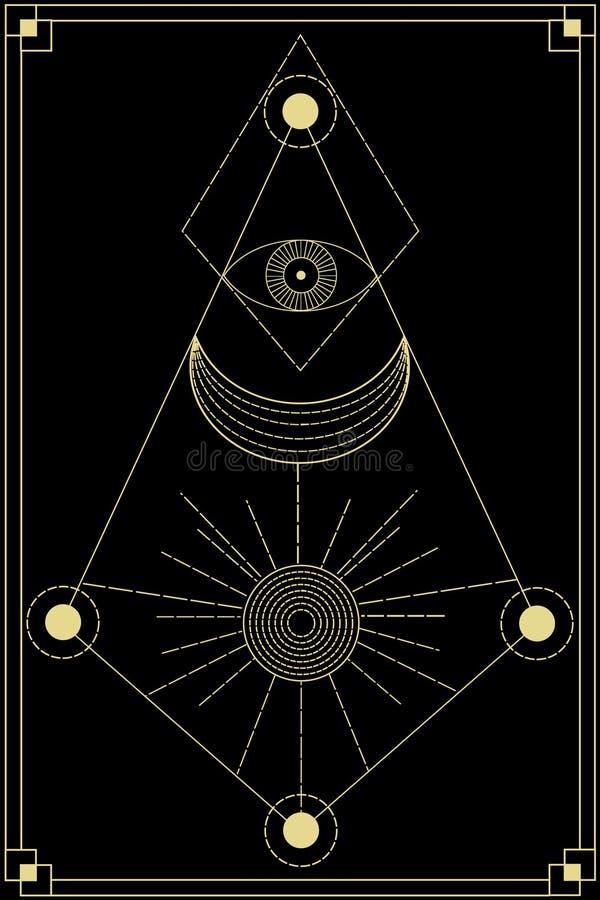 Símbolos sagrados da geometria ilustração royalty free