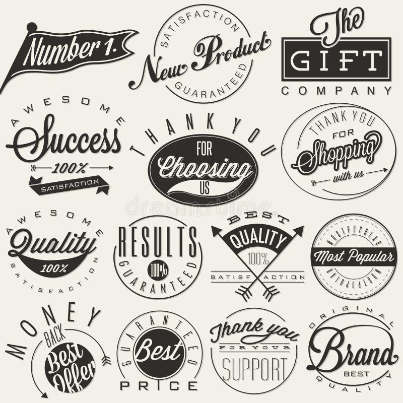 Símbolos tipográficos stock de ilustración