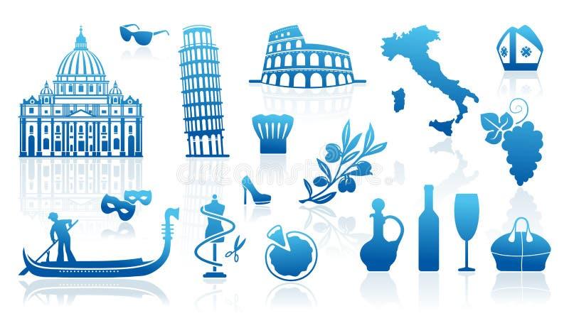 Símbolos tradicionales de Italia libre illustration