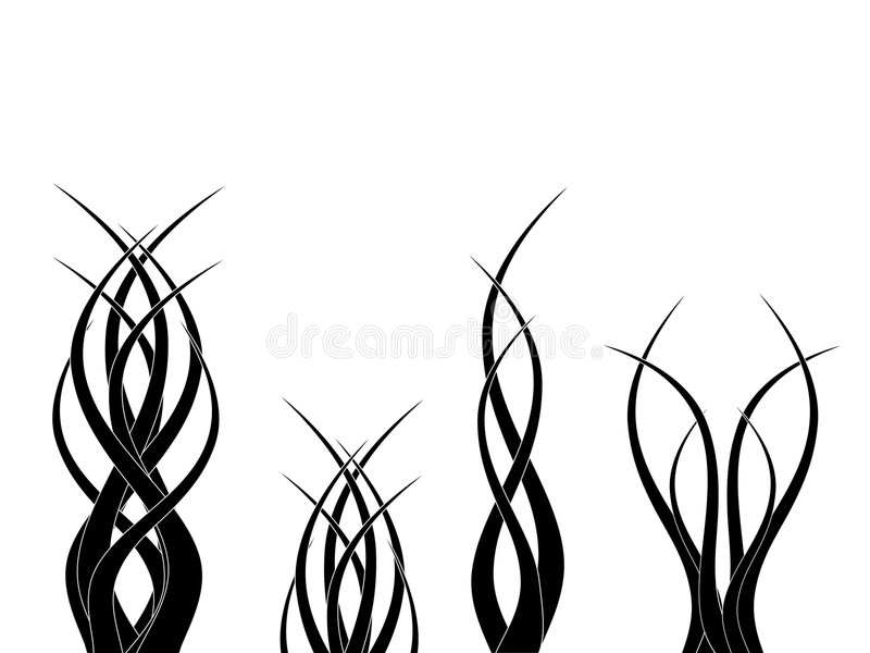 Símbolos tribais ilustração do vetor